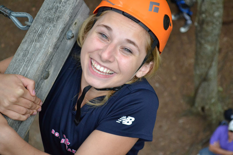 Urban Leadership Institute - High School - Ropes Course - Just hang in there!